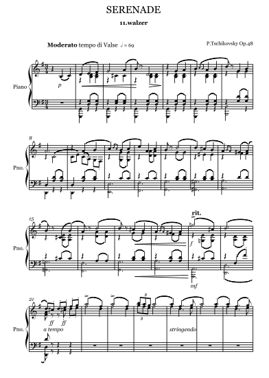 samerhatoum score sample serenade 2nd movement reduced