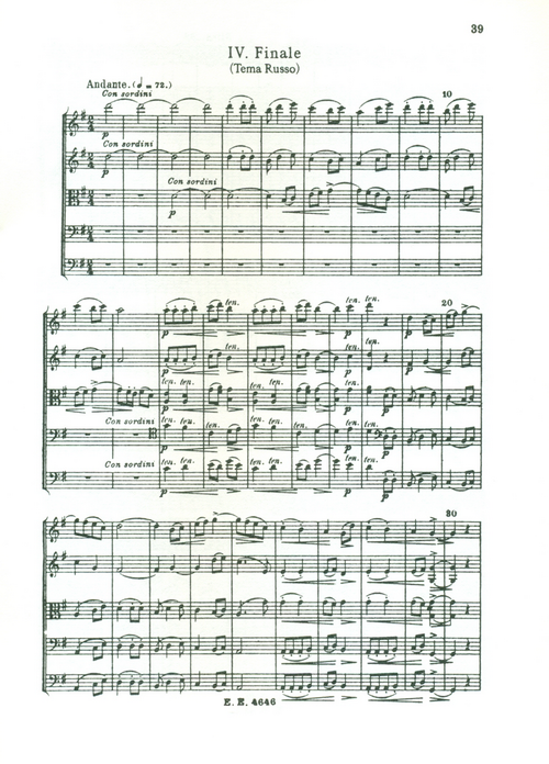 samerhatoum score sample serenade 4th movement original