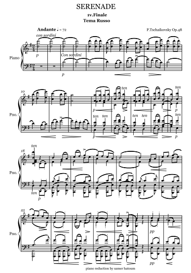 samerhatoum score sample serenade 4th movement reduced